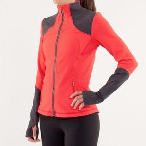 Lululemon Forme Jacket *Brushed red and black sz 4